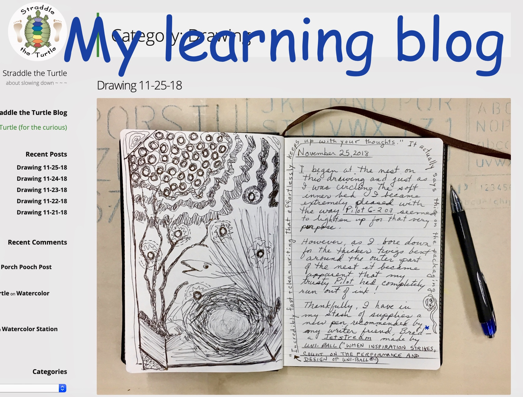 My learning blog