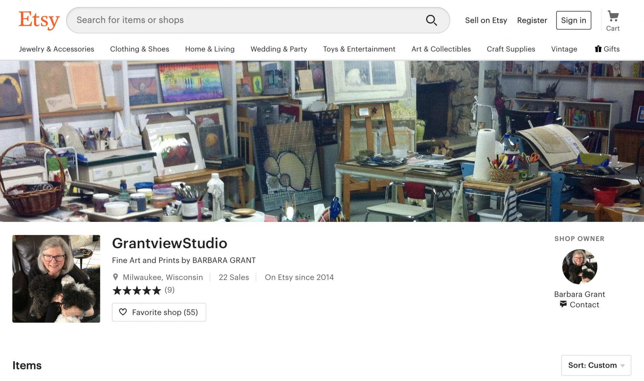 My GrantviewStudio Etsy Shop