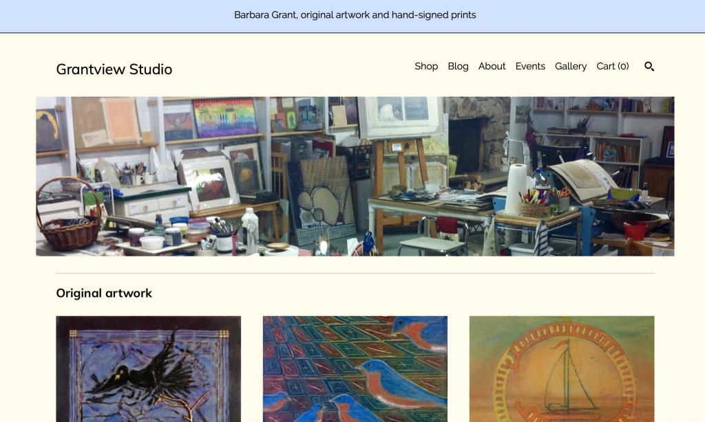 Grantview Studio Shop