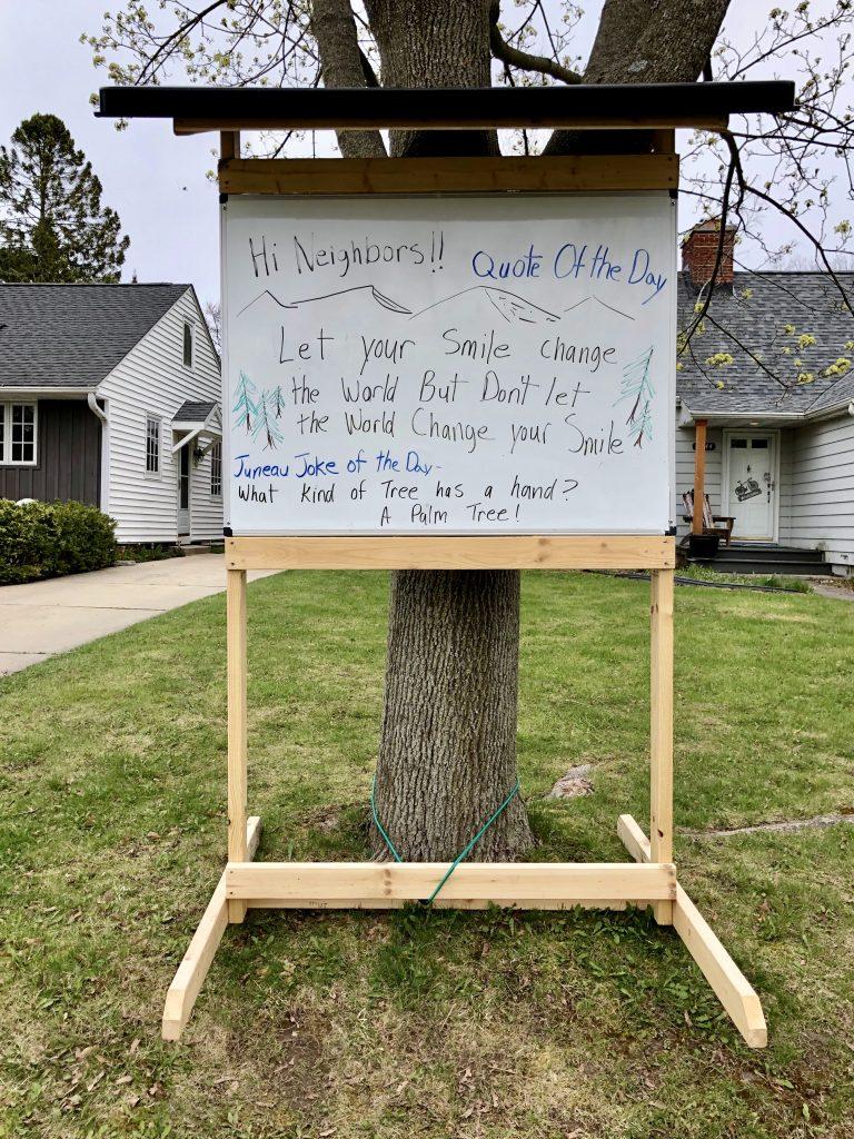 My neighbor's sign