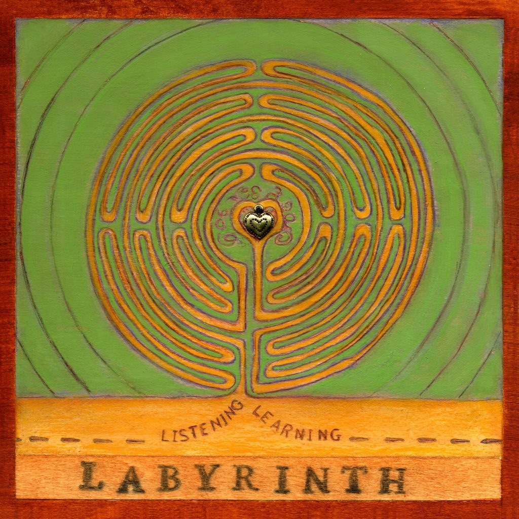 Labyrinth - by Barbara Grant (from Alphabet Book https://bit.ly/2C0Z77u)